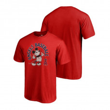 Los Angeles Angels Fanatics Branded Red Disney Mickey's True Original Arch T-Shirt