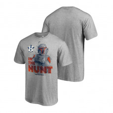 Houston Astros Star Wars In The Hunt Heather Gray Fanatics Branded T-Shirt