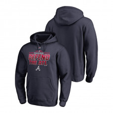 Atlanta Braves Locker Room Defend Navy 2018 NL East Division Champions Majestic Hoodie