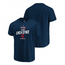 Atlanta Braves Authentic Collection Navy Majestic Big & Tall T-Shirt