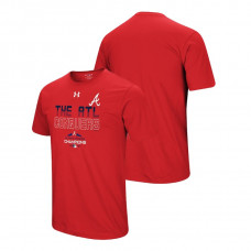 Atlanta Braves Conquer Red 2018 NL East Division Champions Under Armour T-Shirt