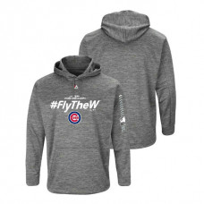 Chicago Cubs Streak Fleece Gray Authentic Collection Hoodie