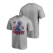 Chicago Cubs Star Wars In The Hunt Heather Gray Fanatics Branded T-Shirt