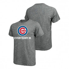 Chicago Cubs Majestic Threads Heathered Gray Everybody In Big & Tall T-Shirt