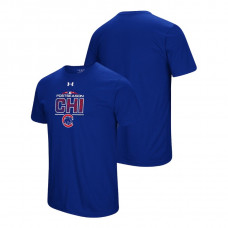 Chicago Cubs Block The Plate Royal Under Armour T-Shirt