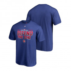 Chicago Cubs Locker Room Wild Card Defend Royal Majestic T-Shirt