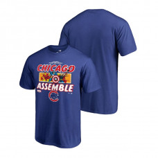 Chicago Cubs Marvel Avengers Assemble Royal Fanatics Branded T-Shirt