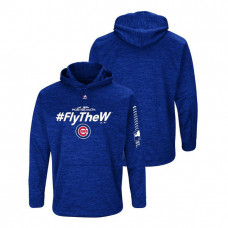 Chicago Cubs Streak Fleece Royal Authentic Collection Hoodie