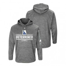 Los Angeles Dodgers Streak Fleece Gray Authentic Collection Hoodie