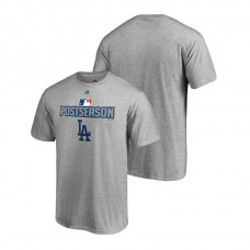 Los Angeles Dodgers Deck Heather Gray Majestic Big & Tall T-Shirt