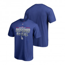 Los Angeles Dodgers Locker Room Defend Royal Big & Tall T-Shirt