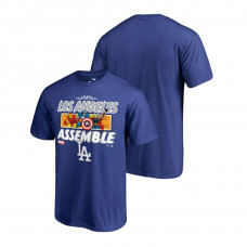Los Angeles Dodgers Marvel Avengers Assemble Royal Fanatics Branded T-Shirt