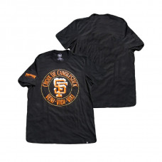 San Francisco Giants Thrasher Black Croix De Candlestick Authentic Collection T-Shirt