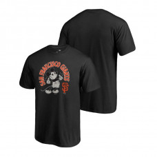 San Francisco Giants Fanatics Branded Black Disney Mickey's True Original Arch T-Shirt