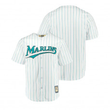 Miami Marlins Cooperstown Collection White Cool Base Home Jersey