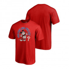 Philadelphia Phillies Fanatics Branded Red Disney Mickey's True Original Arch T-Shirt