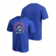 Texas Rangers Fanatics Branded Royal Disney Mickey's True Original Arch T-Shirt