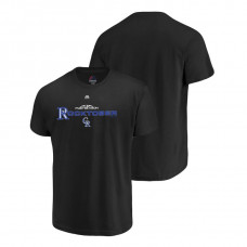Colorado Rockies Authentic Collection Black Majestic Big & Tall T-Shirt