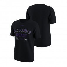 Colorado Rockies October Ready Black Nike T-Shirt