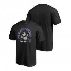 Colorado Rockies Fanatics Branded Black Disney Mickey's True Original Arch T-Shirt