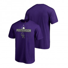Colorado Rockies Deck Purple Majestic Big & Tall T-Shirt