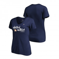 Women - Houston Astros Authentic Collection Navy V-Neck T-Shirt