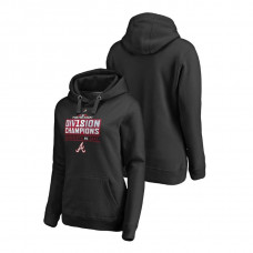Women - Atlanta Braves Runner Black 2018 NL East Division Champions Majestic Hoodie