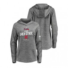 Women - Atlanta Braves Streak Fleece Gray Authentic Collection Hoodie
