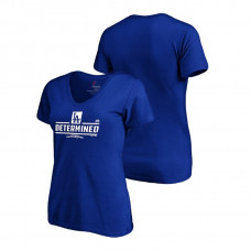 Women - Los Angeles Dodgers Authentic Collection Royal V-Neck Majestic T-Shirt