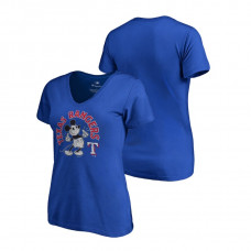 Women - Texas Rangers V-Neck Royal Disney Mickey's True Original Arch Fanatics Branded T-Shirt