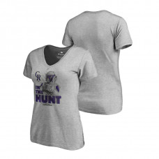 Women - Colorado Rockies Star Wars In The Hunt Heather Gray Fanatics Branded T-Shirt