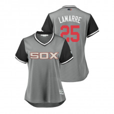 Women - Chicago White Sox Gray #25 Ryan LaMarre Lamarre Jersey