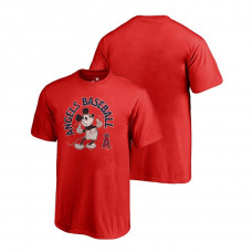 YOUTH Los Angeles Angels Fanatics Branded Red Disney Mickey's True Original Arch T-Shirt