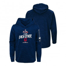 YOUTH Atlanta Braves Streak Fleece Navy Authentic Collection Hoodie