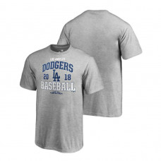 YOUTH Los Angeles Dodgers Bases Heather Gray Fanatics Branded T-Shirt