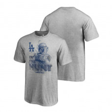 YOUTH Los Angeles Dodgers Star Wars In The Hunt Heather Gray Fanatics Branded T-Shirt