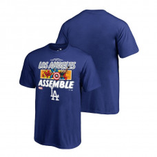 YOUTH Los Angeles Dodgers Marvel Avengers Assemble Royal Fanatics Branded T-Shirt