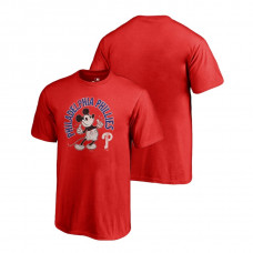 YOUTH Philadelphia Phillies Fanatics Branded Red Disney Mickey's True Original Arch T-Shirt