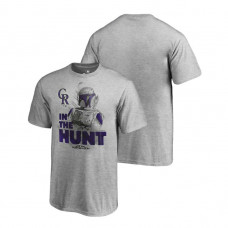YOUTH Colorado Rockies Star Wars In The Hunt Heather Gray Fanatics Branded T-Shirt