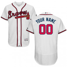 Custom Atlanta Braves White Flexbase Authentic Collection Jersey