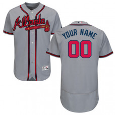 Custom Atlanta Braves Grey Flexbase Authentic Collection Jersey
