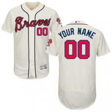 Custom Atlanta Braves Cream Flexbase Authentic Collection Jersey