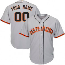 Custom San Francisco Giants Replica Grey Road Cool Base Jersey