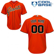 Custom San Francisco Giants Authentic Orange Alternate Cool Base Jersey
