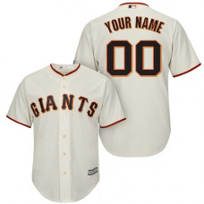 Youth Custom San Francisco Giants Replica Cream Home Cool Base Jersey