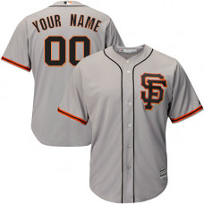 Youth Custom San Francisco Giants Replica Grey Road 2 Cool Base Jersey