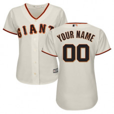 Women's Custom San Francisco Giants Replica Cream Home Cool Base Jersey