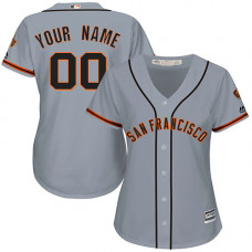 Women's Custom San Francisco Giants Replica Grey Road Cool Base Jersey
