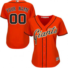 Women's Custom San Francisco Giants Authentic Orange Alternate Cool Base Jersey