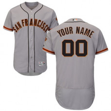 Custom San Francisco Giants Grey Flexbase Authentic Collection Jersey